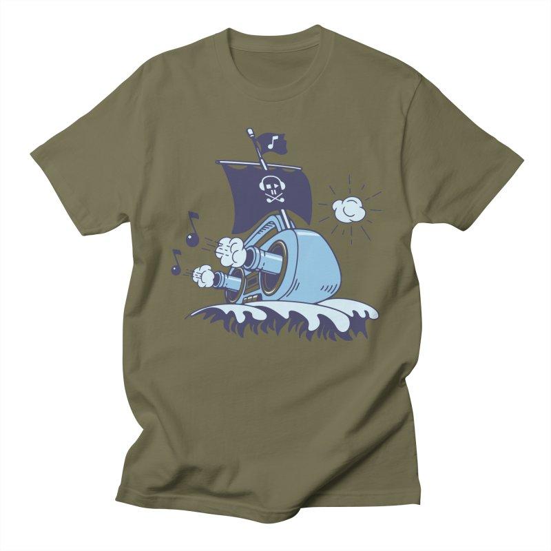 MUSICAL SHIP Men's Regular T-Shirt by gotoup's Artist Shop