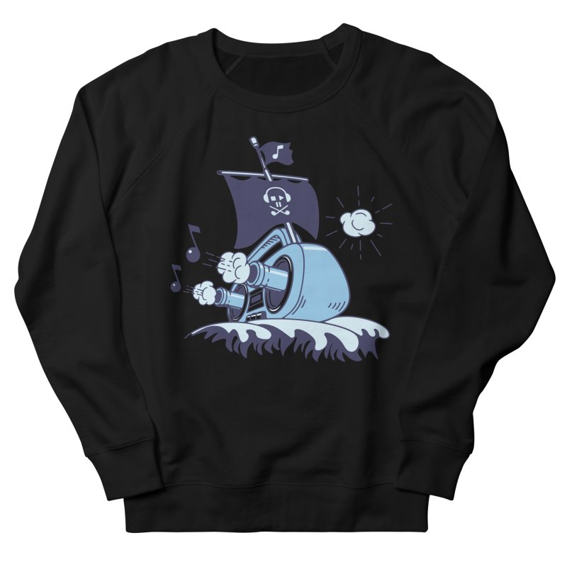 MUSICAL SHIP Men's French Terry Sweatshirt by gotoup's Artist Shop