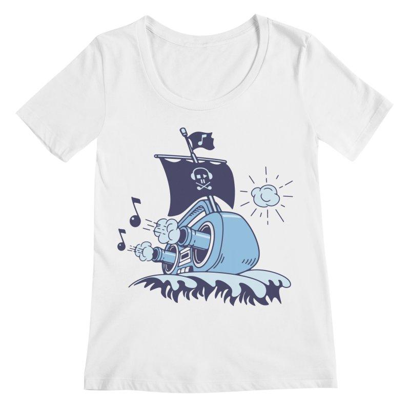 MUSICAL SHIP Women's Scoopneck by gotoup's Artist Shop