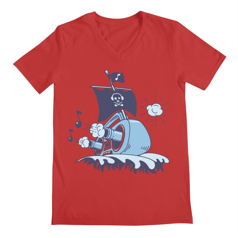 MUSICAL SHIP Men's V-Neck by gotoup's Artist Shop