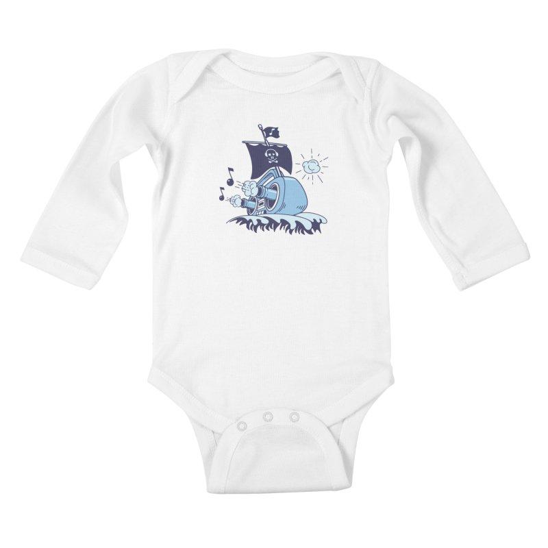 MUSICAL SHIP Kids Baby Longsleeve Bodysuit by gotoup's Artist Shop