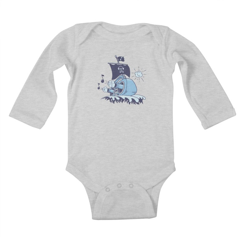 MUSICAL SHIP Kids Baby Longsleeve Bodysuit by gotoup's Artist Shop