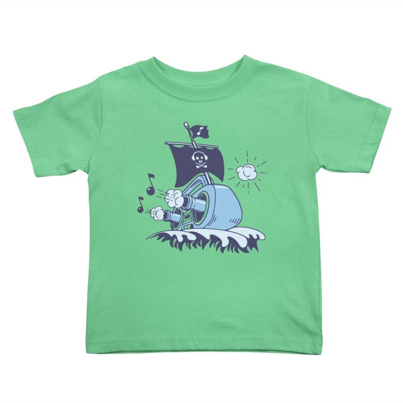 MUSICAL SHIP Kids Toddler T-Shirt by gotoup's Artist Shop