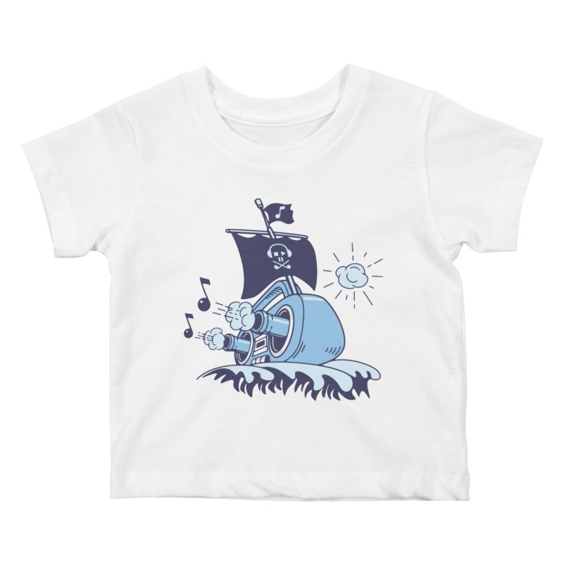 MUSICAL SHIP Kids Baby T-Shirt by gotoup's Artist Shop