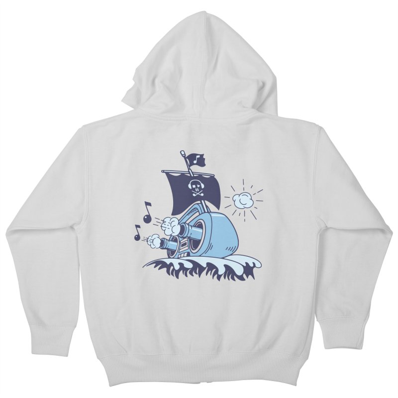 MUSICAL SHIP Kids Zip-Up Hoody by gotoup's Artist Shop