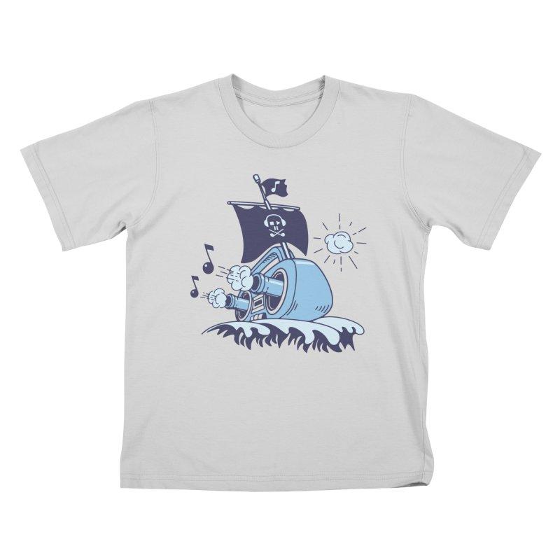 MUSICAL SHIP Kids T-Shirt by gotoup's Artist Shop