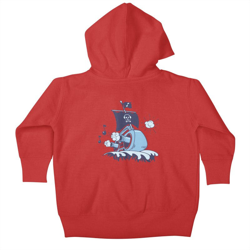 MUSICAL SHIP Kids Baby Zip-Up Hoody by gotoup's Artist Shop