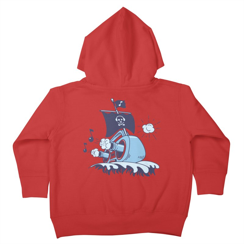 MUSICAL SHIP Kids Toddler Zip-Up Hoody by gotoup's Artist Shop