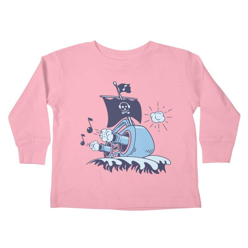 MUSICAL SHIP Kids Toddler Longsleeve T-Shirt by gotoup's Artist Shop
