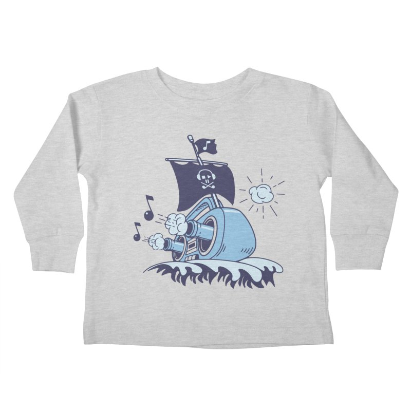 MUSICAL SHIP Kids Toddler Longsleeve T-Shirt by gotoup's Artist Shop