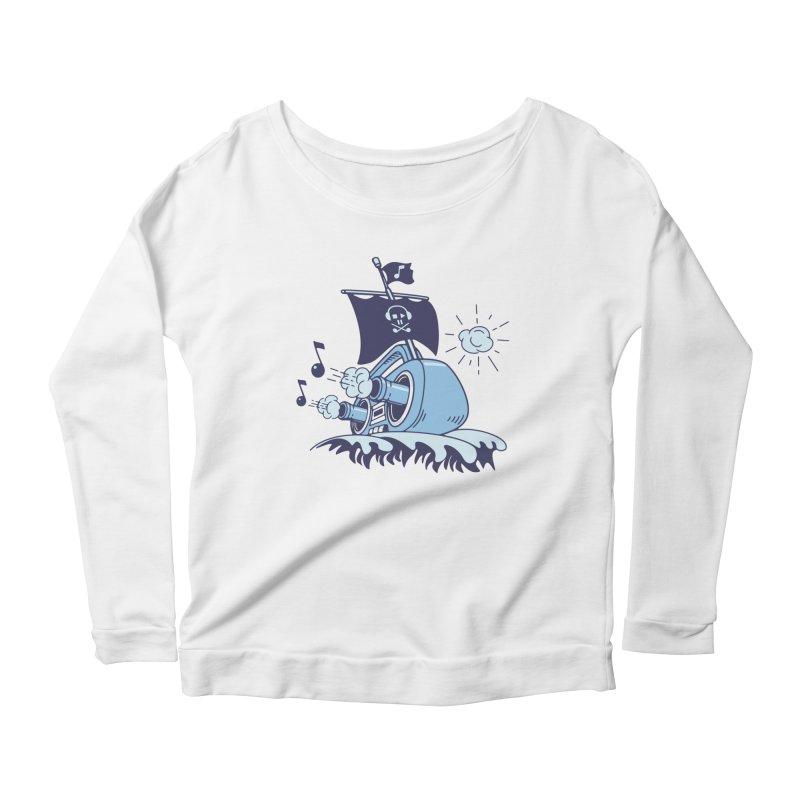 MUSICAL SHIP Women's Scoop Neck Longsleeve T-Shirt by gotoup's Artist Shop