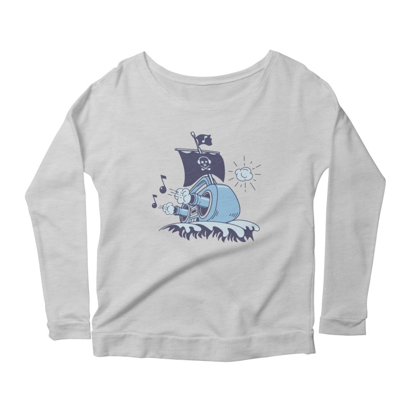 MUSICAL SHIP Women's Longsleeve Scoopneck  by gotoup's Artist Shop