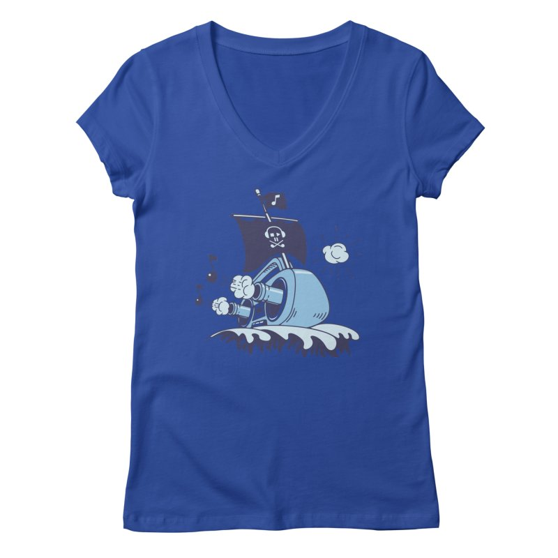 MUSICAL SHIP Women's V-Neck by gotoup's Artist Shop