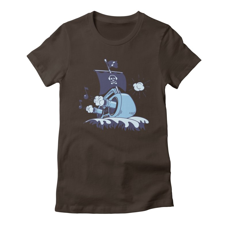 MUSICAL SHIP Women's Fitted T-Shirt by gotoup's Artist Shop
