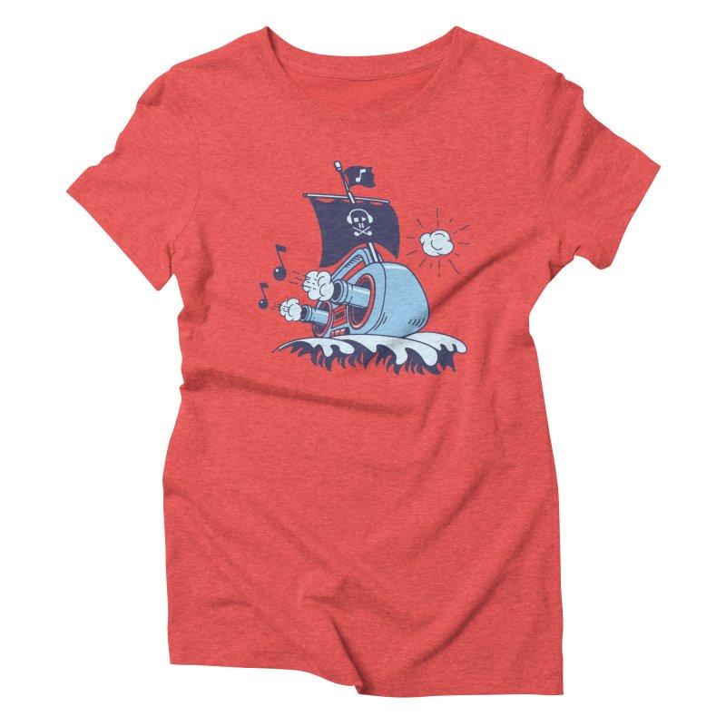 MUSICAL SHIP Women's Triblend T-Shirt by gotoup's Artist Shop