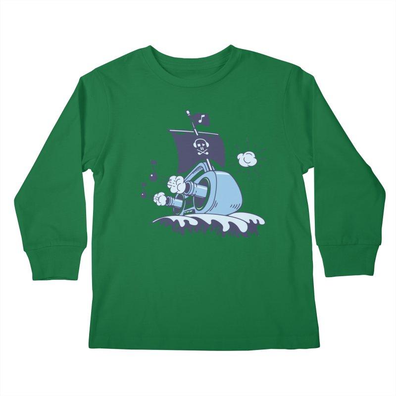 MUSICAL SHIP Kids Longsleeve T-Shirt by gotoup's Artist Shop