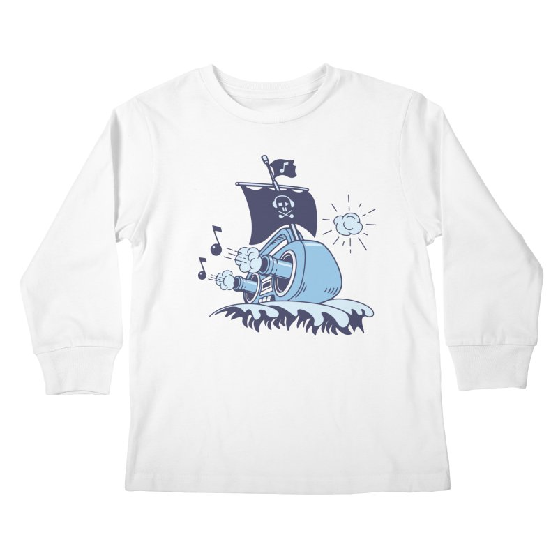 MUSICAL SHIP Kids Longsleeve T-Shirt by gotoup's Artist Shop