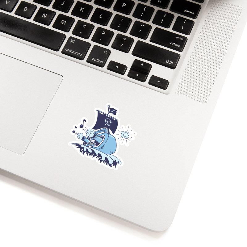 MUSICAL SHIP Accessories Sticker by gotoup's Artist Shop