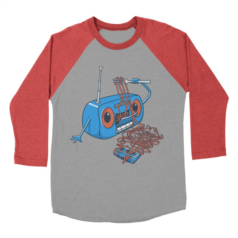 spaghetti Men's Baseball Triblend T-Shirt by gotoup's Artist Shop