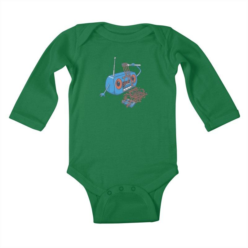 spaghetti Kids Baby Longsleeve Bodysuit by gotoup's Artist Shop