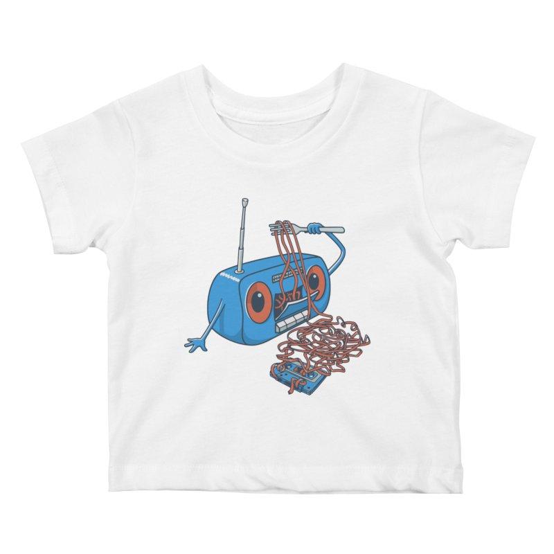 spaghetti Kids Baby T-Shirt by gotoup's Artist Shop