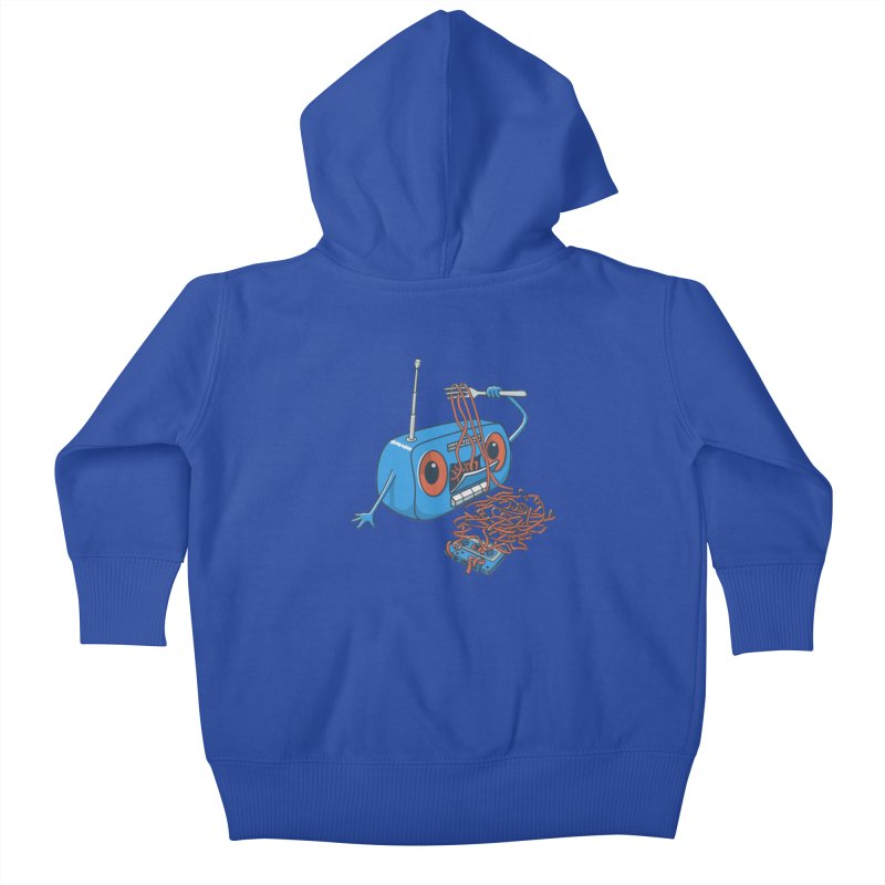 spaghetti Kids Baby Zip-Up Hoody by gotoup's Artist Shop