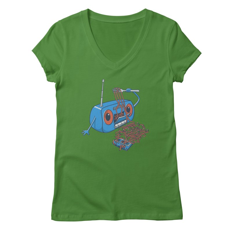 spaghetti Women's Regular V-Neck by gotoup's Artist Shop