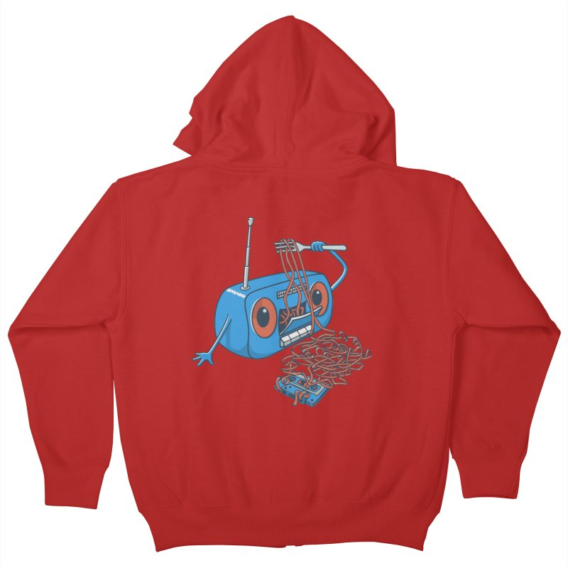 spaghetti Kids Zip-Up Hoody by gotoup's Artist Shop