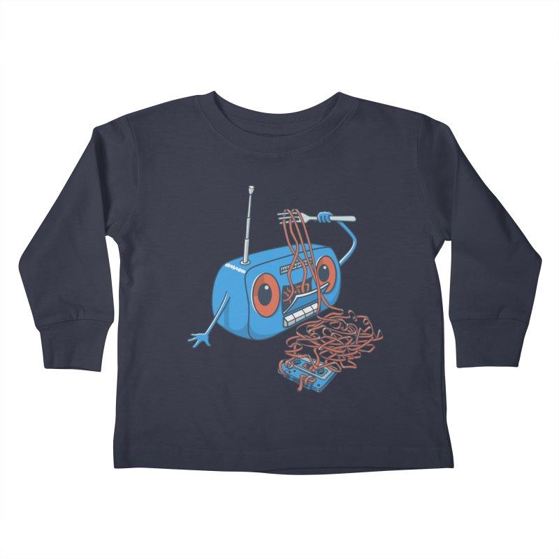 spaghetti Kids Toddler Longsleeve T-Shirt by gotoup's Artist Shop