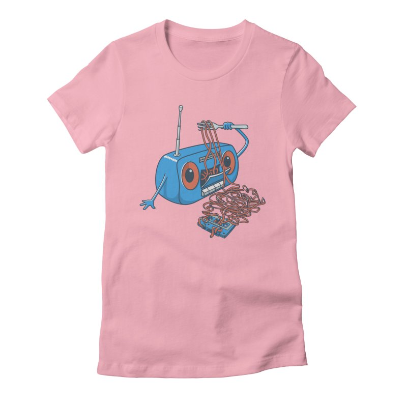 spaghetti Women's Fitted T-Shirt by gotoup's Artist Shop