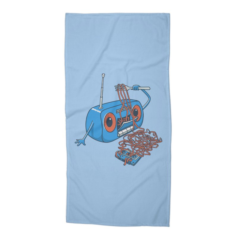 spaghetti Accessories Beach Towel by gotoup's Artist Shop