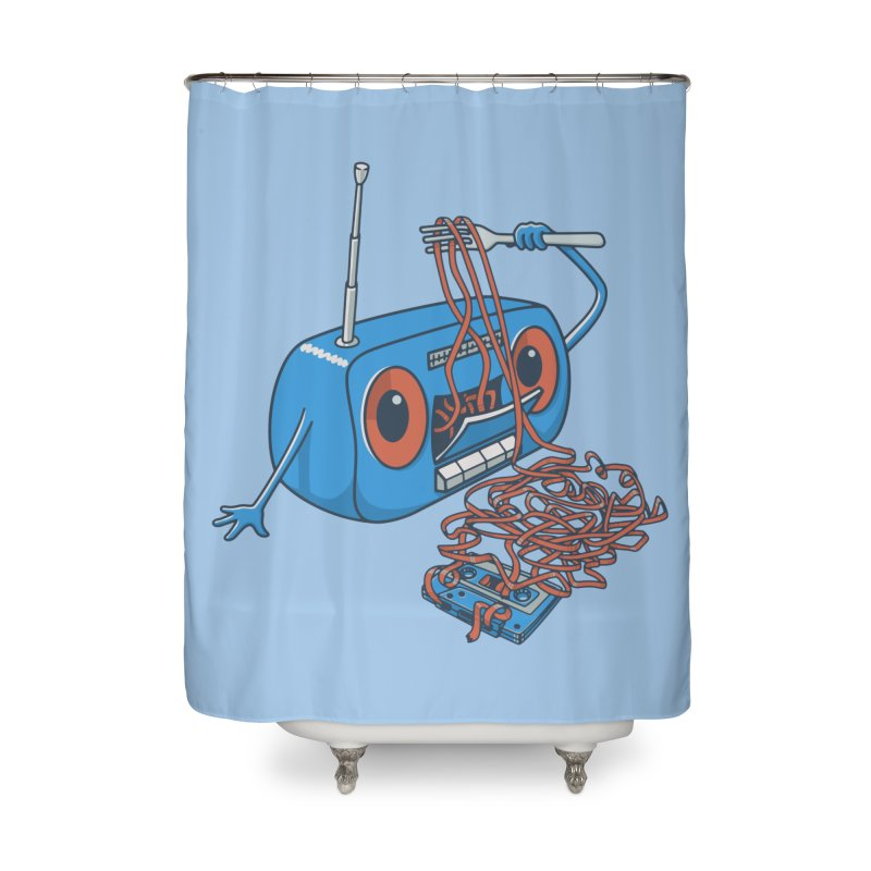 spaghetti Home Shower Curtain by gotoup's Artist Shop
