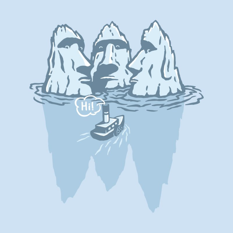 THREE ICEBERGS by gotoup's Artist Shop