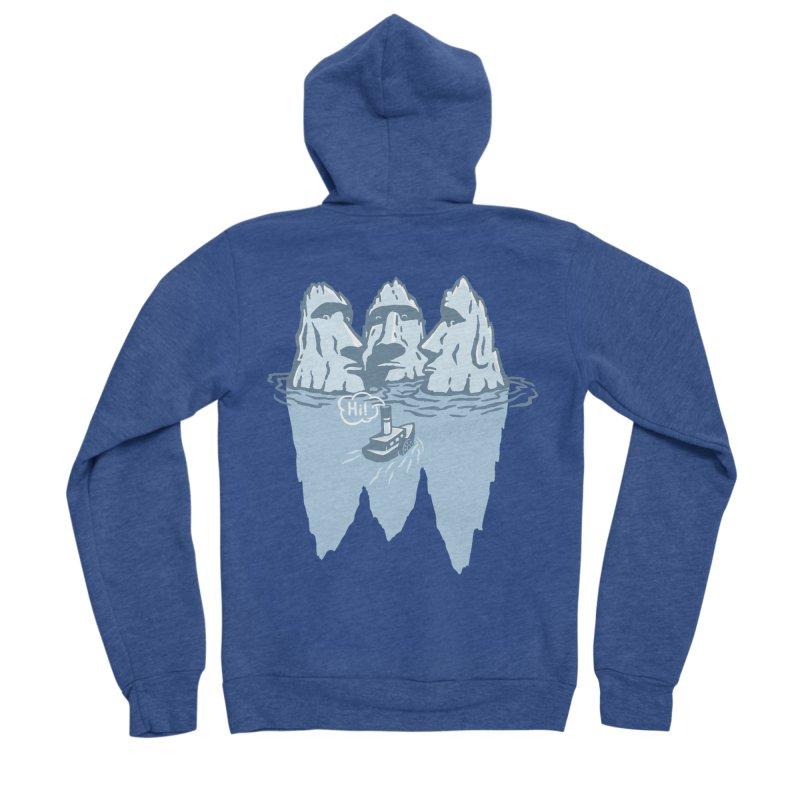 THREE ICEBERGS Women's Sponge Fleece Zip-Up Hoody by gotoup's Artist Shop