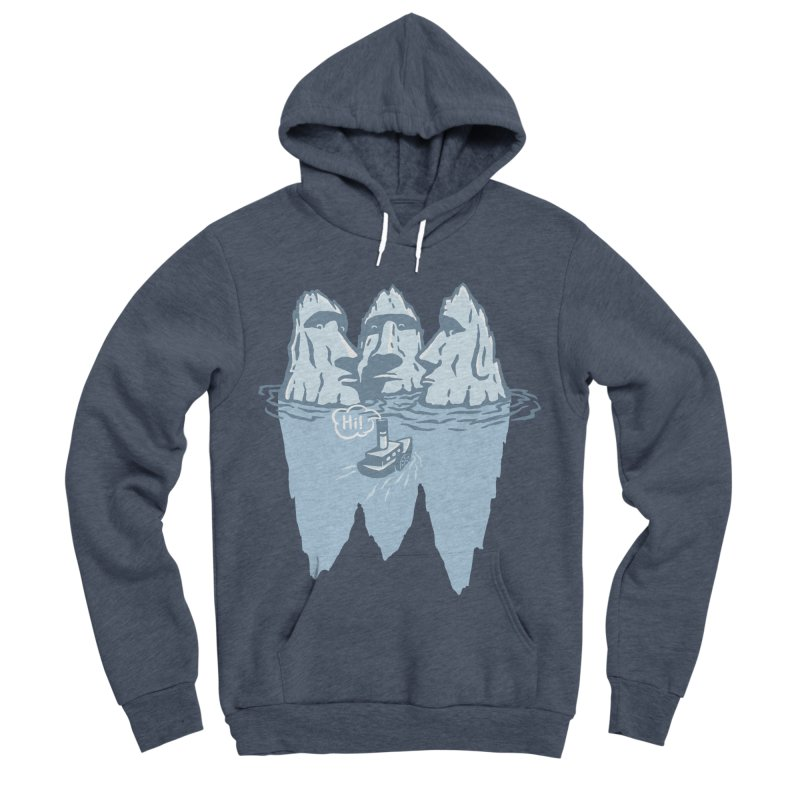 THREE ICEBERGS Men's Sponge Fleece Pullover Hoody by gotoup's Artist Shop