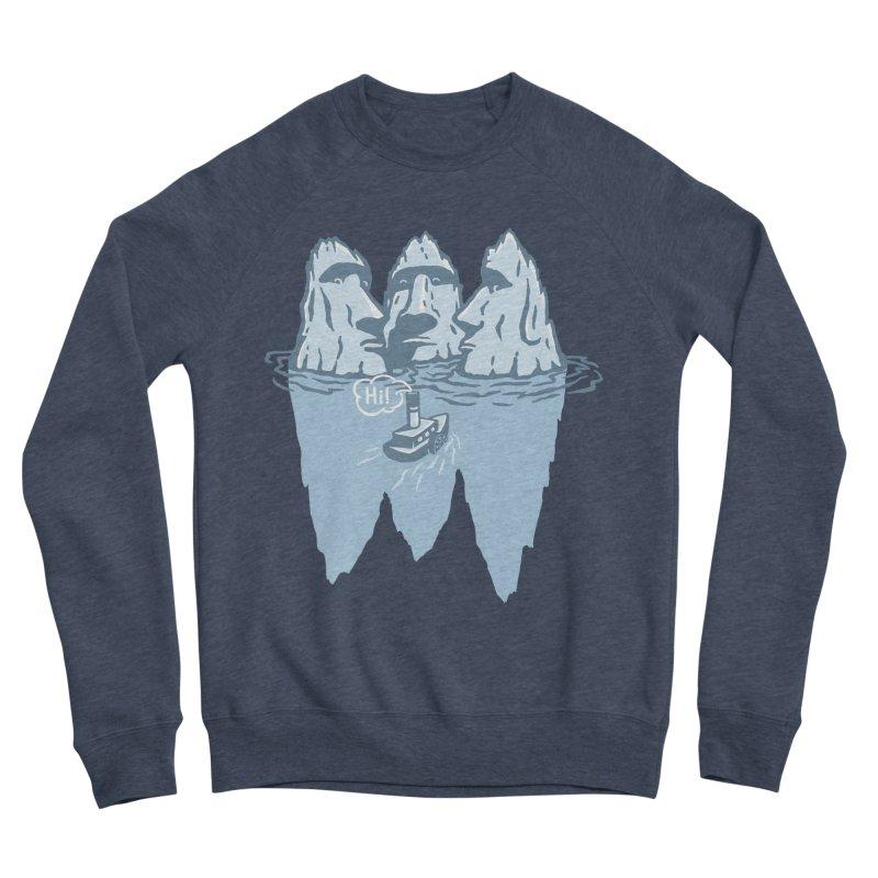 THREE ICEBERGS Men's Sponge Fleece Sweatshirt by gotoup's Artist Shop