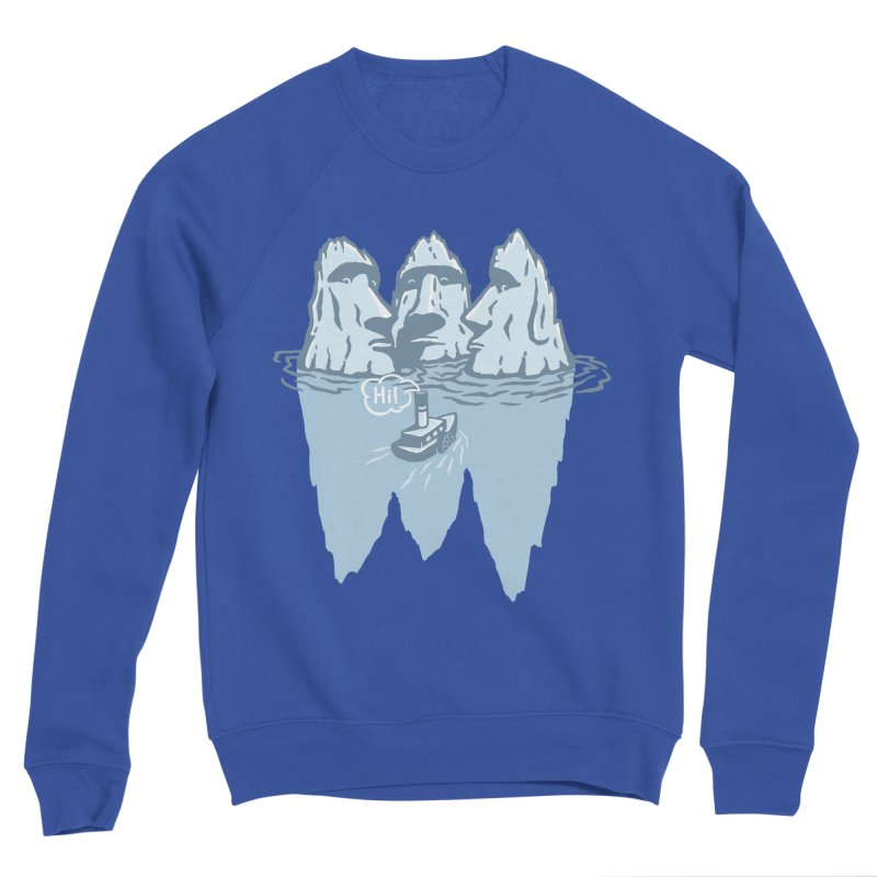 THREE ICEBERGS Women's Sponge Fleece Sweatshirt by gotoup's Artist Shop