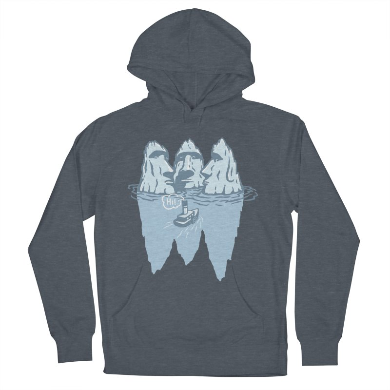 THREE ICEBERGS Men's French Terry Pullover Hoody by gotoup's Artist Shop
