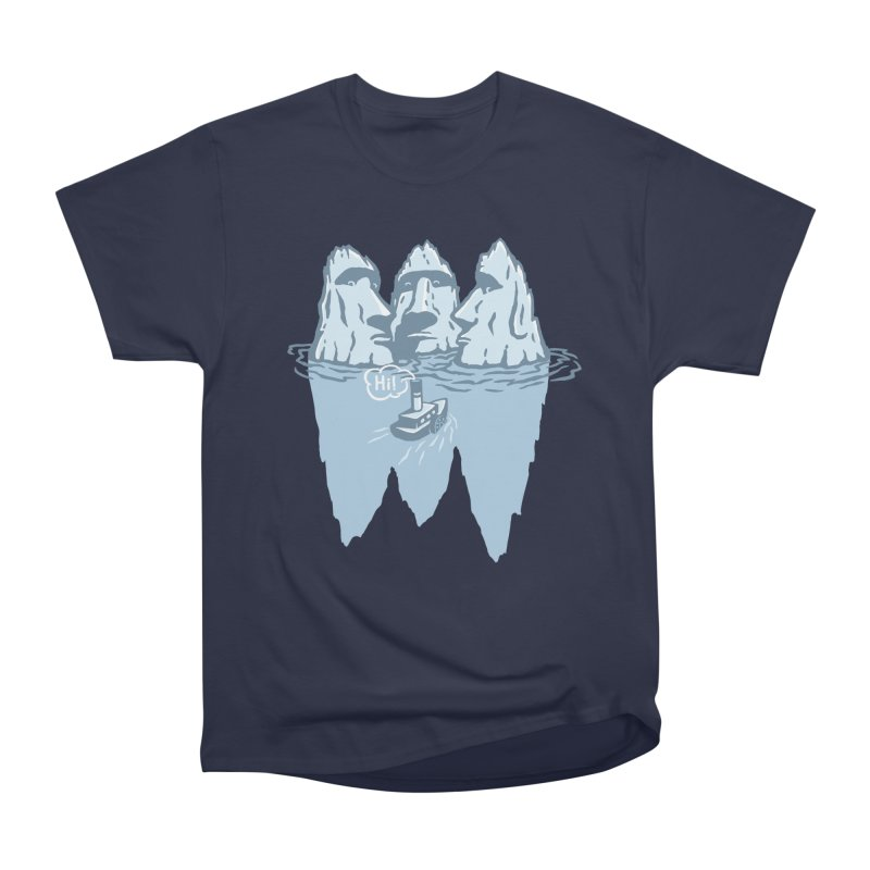 THREE ICEBERGS Men's Heavyweight T-Shirt by gotoup's Artist Shop