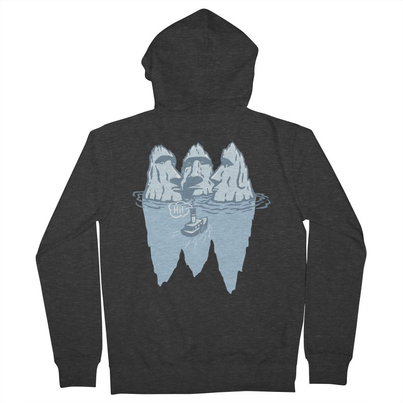 THREE ICEBERGS Women's French Terry Zip-Up Hoody by gotoup's Artist Shop