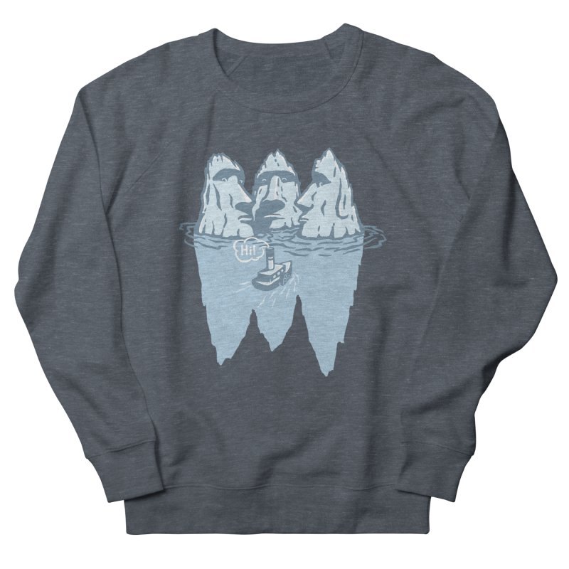 THREE ICEBERGS Women's French Terry Sweatshirt by gotoup's Artist Shop