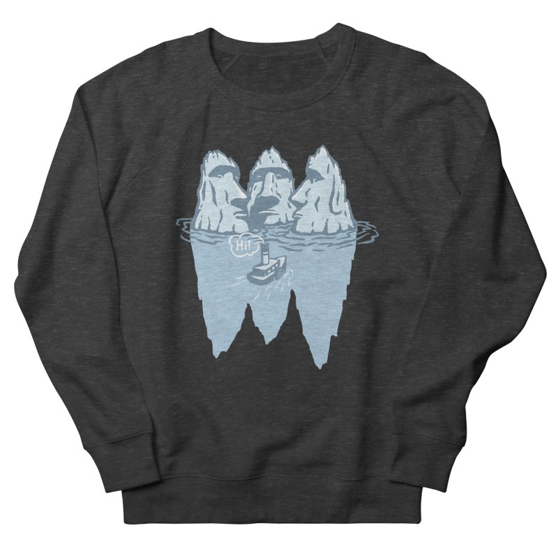 THREE ICEBERGS Men's French Terry Sweatshirt by gotoup's Artist Shop