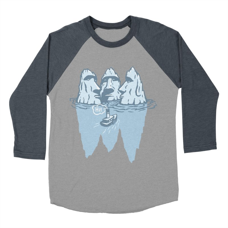 THREE ICEBERGS Women's Baseball Triblend Longsleeve T-Shirt by gotoup's Artist Shop