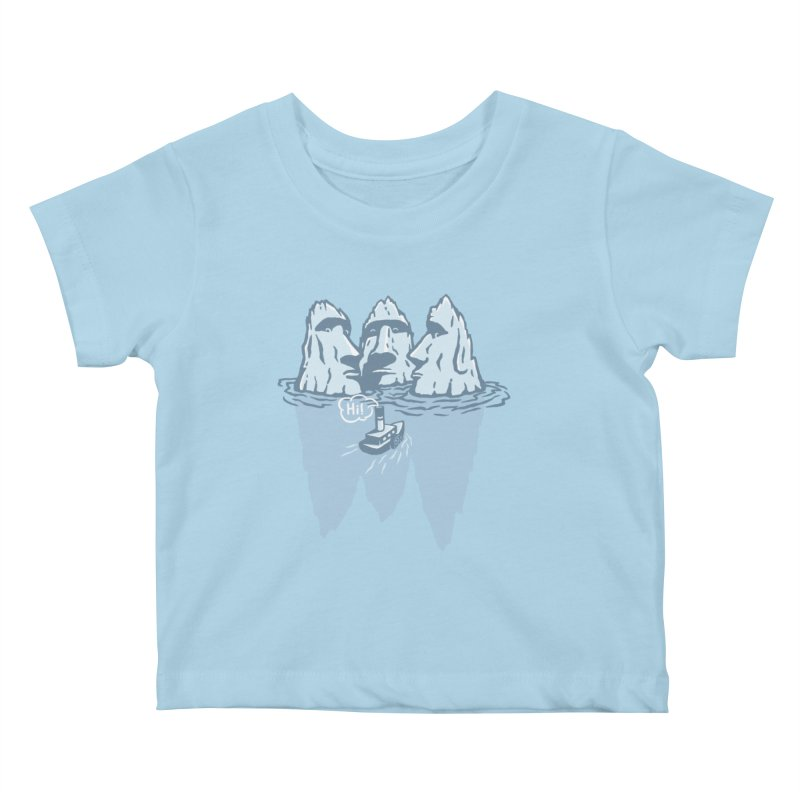 THREE ICEBERGS Kids Baby T-Shirt by gotoup's Artist Shop