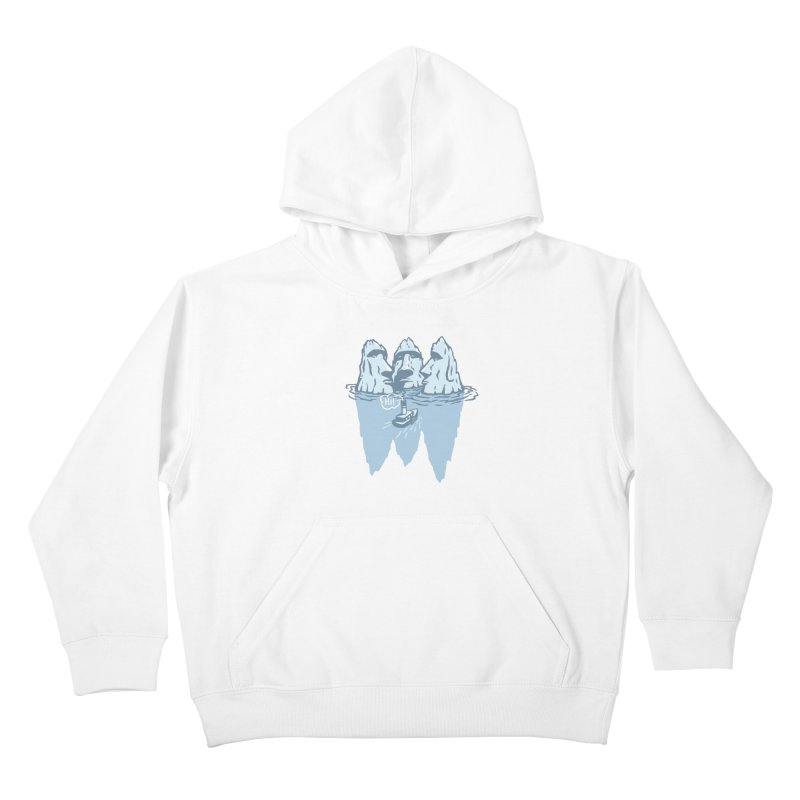 THREE ICEBERGS Kids Pullover Hoody by gotoup's Artist Shop