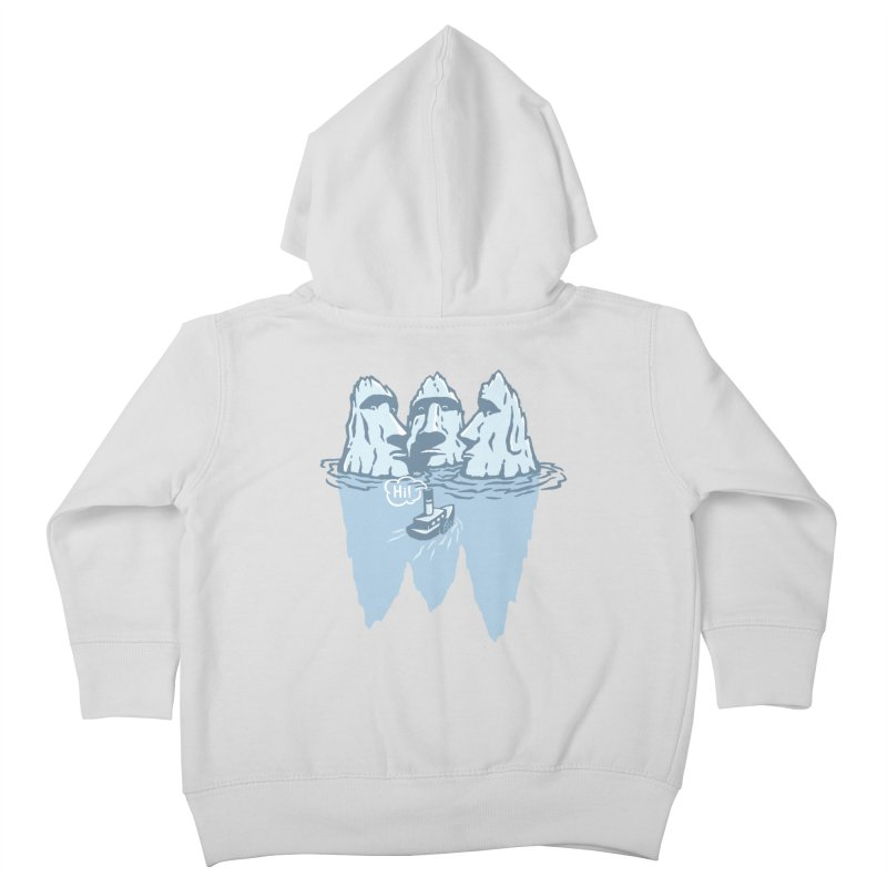 THREE ICEBERGS Kids Toddler Zip-Up Hoody by gotoup's Artist Shop