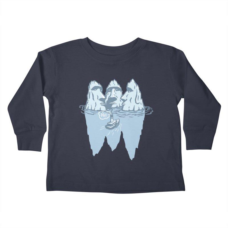 THREE ICEBERGS Kids Toddler Longsleeve T-Shirt by gotoup's Artist Shop