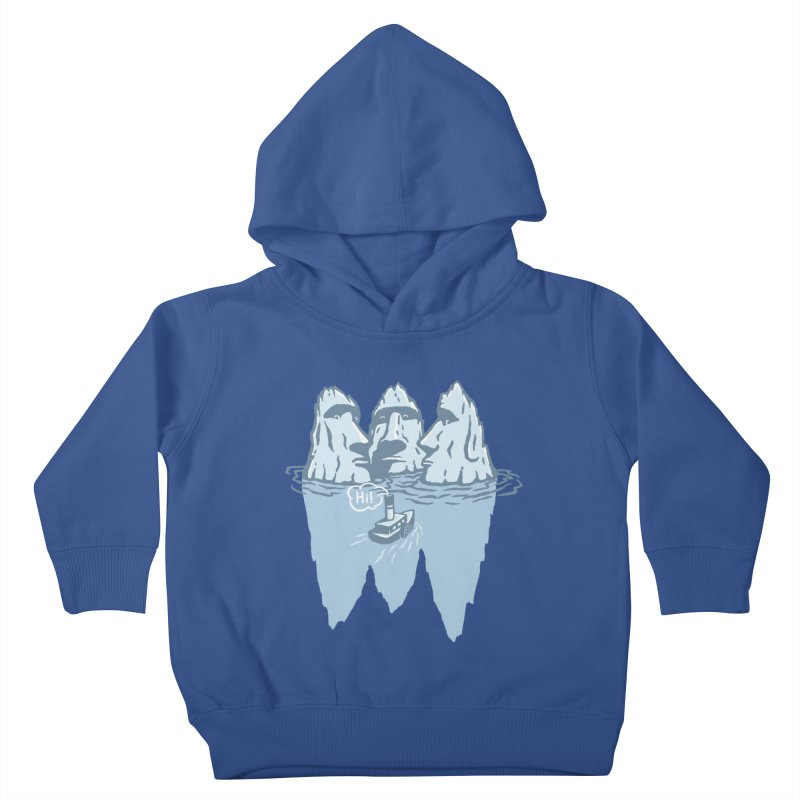THREE ICEBERGS Kids Toddler Pullover Hoody by gotoup's Artist Shop