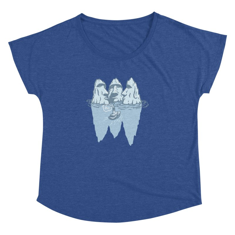 THREE ICEBERGS Women's Dolman Scoop Neck by gotoup's Artist Shop