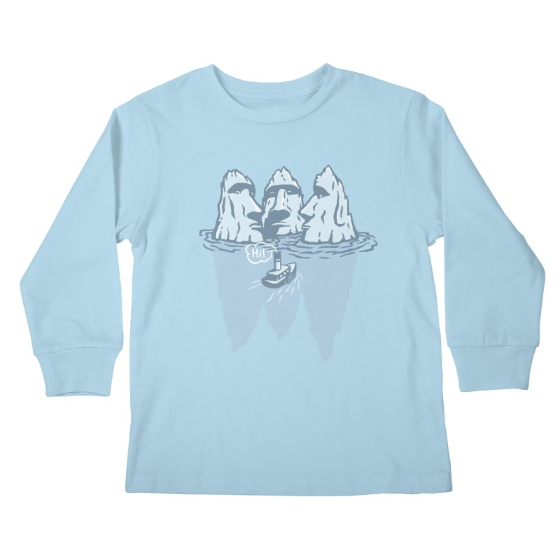 THREE ICEBERGS Kids Longsleeve T-Shirt by gotoup's Artist Shop